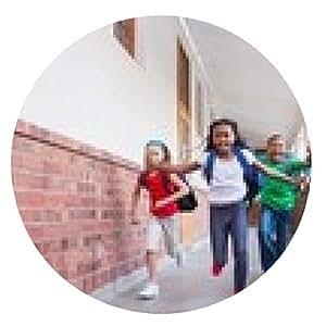 alfombrilla de ratón alumnos lindo corriendo y sonriendo a la cámara en el pasillo - ronda - 20cm