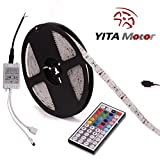YITAMOTOR LED Light Strip 5050 SMD 16.4ft 5M Waterproof 300LEDs RGB Flexible ...