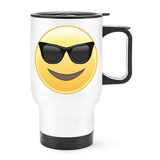 Gift Base Gafas de Sol Emoji Viaje Taza con Mango: Amazon.es ...