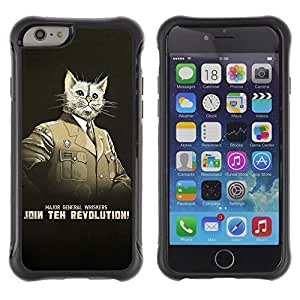 Hybrid Anti-Shock Defend Case for Apple iPhone 6 4.7 Inch / General Whiskers Cat WANGJING JINDA