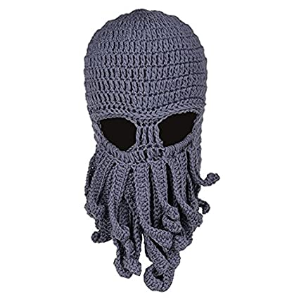 b8b81e320f984 Amazon.com   Tentacle Octopus Cthulhu Knit Beanie Hat Cap Wind Ski Mask  (Gray Color)   Everything Else