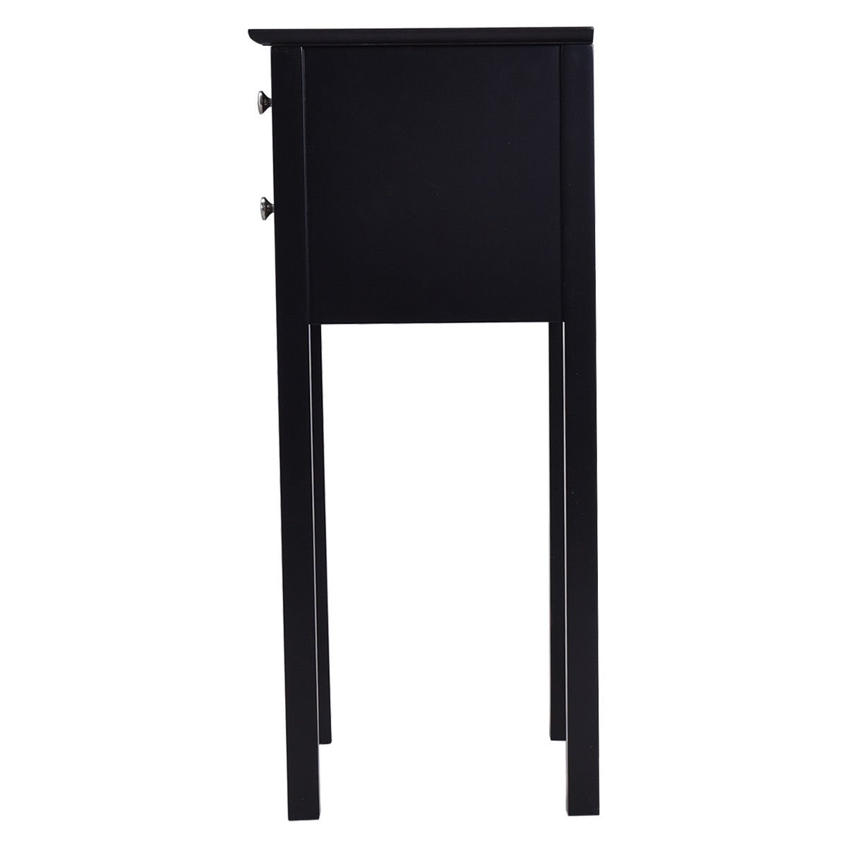 30'' Black Accent Nightstand Side End Table w/ 2Drawer with Ebook by AyaMastro (Image #5)