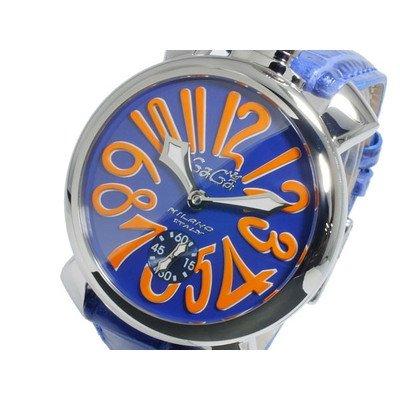 [ガガミラノ]GaGaMILANO マニュアーレ48 手巻き メンズ 腕時計 5010.08S-BLU [並行輸入品] B00ZBUOU96