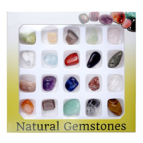 JOVIVI 20 Gemstones Chakra Stone Healing Balancing Kit for Collectors, Crystal & Reiki Healers and Yoga Practioner