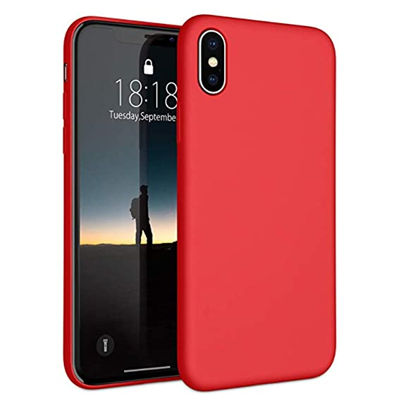 online retailer 838b8 c9815 Reacly for iPhone X/XS case/iPhone Xs MAX Case | Silicone Slim Soft Touch  Rubber Cover Shock Resistance Protective Rubber Case | Shock Absorption and  ...