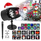 Christmas Projector Lights Outdoor Ocean Wave Projector Light, Waterproof 2-in-1 Holiday Projector Lights with Remote Control,No Slide 12 Holiday Pattern Christmas Xmas Party Yard Garden Decoration