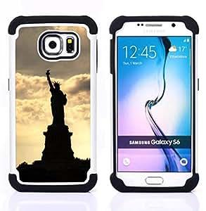 BullDog Case - FOR/Samsung Galaxy S6 G9200 / - / The Statue Of Liberty /- H??brido Heavy Duty caja del tel??fono protector din??mico - silicona suave