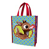 "Vandor 65273 Rudolph ""Holly Jolly Christmas"" Small Recycled Shopper Tote, Multicolor"