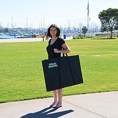 GoSports CornHole Bean Bag Toss Game Set - Superior Aluminum Frame (American Flag, Football and Black designs)