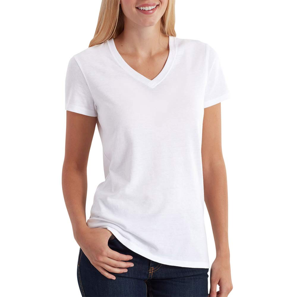 Carhartt Women's Lockhart Short Sleeve V-Neck T-Shirt