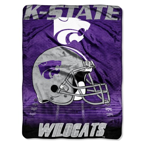 80 Inch Micro Raschel Blanket (Officially Licensed NCAA Kansas State Wildcats 60