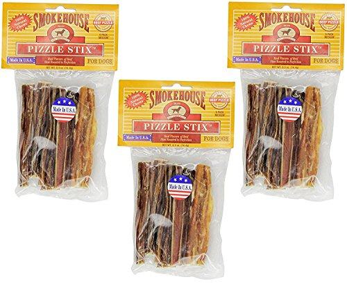 Smokehouse Pet Products 83038 Medium Pizzle Stix 6 Count ()