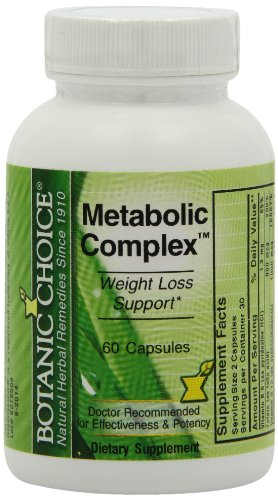 Botanic Choice métaboliques complexes Capsules, 60-Count Bouteille