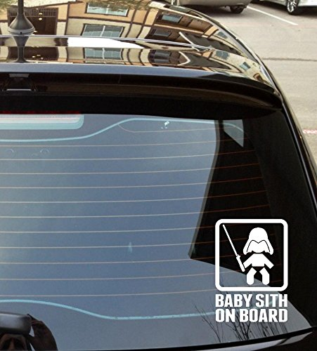 Baby Sith on Board Die Cut Vinyl Car Decal Wall Sticker HAMMEReD INK