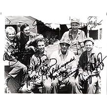 "MASH"" Signed by ALAN ALDA, LARRY LANVILLE, LORETTA SWIT, WAYNE ROGERS, MCLEAN STEVENSON, and GARY BURGHOFF 10x8 B/W Photo"