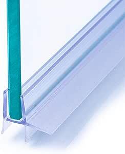 IEGAR - Junta de 100cm para mampara de ducha de 4 mm/5 mm/6 mm, nuevo perfil de doble barra, reemplazo para puerta de vidrio con bisagras o correderas, universal con escurridor: Amazon.es: