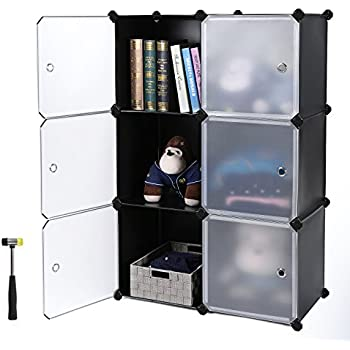 Songmics diy cube storage organizer cabinet bookcase with door ulpc23h