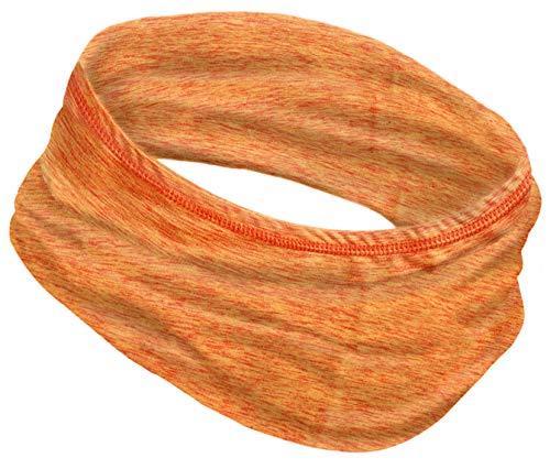 12-in-1 Cooling Headwear - UPF 30 Versatile Outdoors & Daily Headwear - 12 Ways to Wear Including Headband, Neck Wrap, Bandana, Face Mask, Helmet Liner. Performance Moisture Wicking (Space Orange)