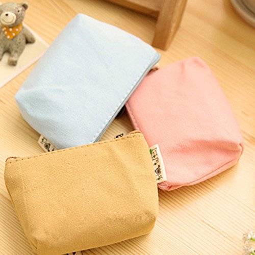 Skyeye Coin Purse Cute Girl Hand Carry Canvas Purse Cartoon Cute Cloth Key Bag Coin Bag