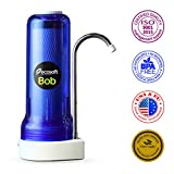 Ecosoft Countertop Water Filter System for Faucet Mount with Extra Filtration Cartridge - Blue