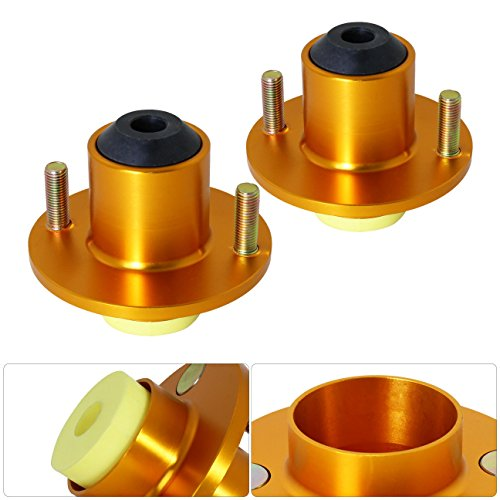 (For Civic Del Sol Crx Integra Jdm Gold Aluminum Suspension Coilover Shock Top Mount Hat Bushing Bump Stop)