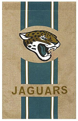 (Team Sports America NFL Jacksonville Jaguars Stripe Logo Burlap House Flag, Medium,)