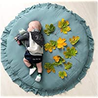 Mywarm Lace Round Play Mat - Thickened Children Carpet Baby Round Play Mat Newborns Crawling Pad Tent Bed Decoration…