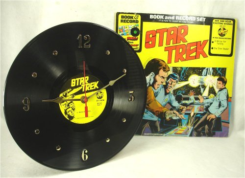 STAR TREK Recycled Vinyl Record Clock – 1970s Audio Stories with Comic Book Album - Class Overseas First Mail