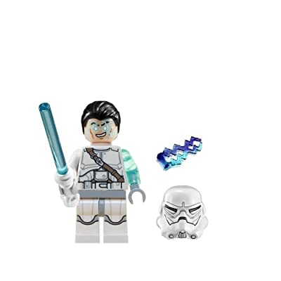 LEGO Star Wars Jek-14 Minifigure Complete - White lightsaber, helmet, hair-piece, & lightning (2014): Toys & Games