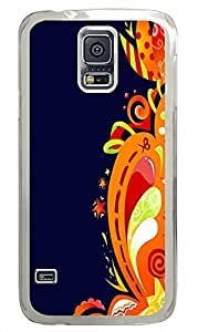 Samsung Galaxy S5 luxury covers Abstract Flower Swirls PC Transparent Custom Samsung Galaxy S5 Case Cover