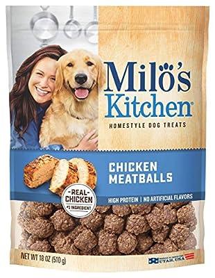 Milo's Kitchen Chicken Meatballs Dog Treats, 18-Ounce by Milo's dog treats