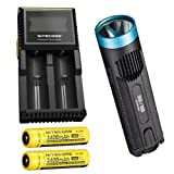 Combo: Blue Nitecore EC4GT Limited Edition w/ D2 Charger & 2x NL189 Batteries
