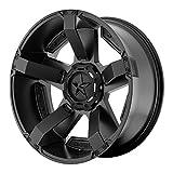 XD Series by KMC Wheels XD811 Rockstar II Satin Black Wheel With Accents (17x8