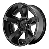 XD Series by KMC Wheels XD811 Rockstar II Satin Black Wheel With Accents (17x9''/8x165.1mm, -12mm offset)