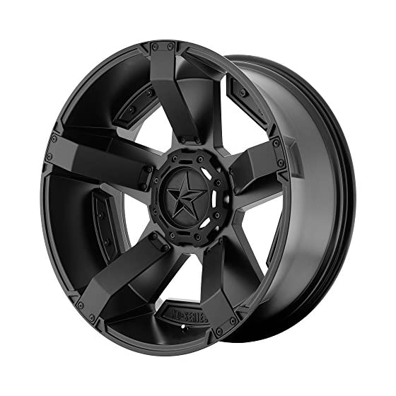 XD SERIES BY KMC WHEELS XD811 ROCKSTAR II Matte Black Wheel Chromium (hexavalent compounds) (17 x 9. inches /5 x 127 mm, -12 mm Offset)