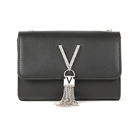 694361dcb1 Valentino by Mario Valentino Ranma Shoulder bag black: Amazon.co.uk:  Clothing