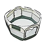 Army Green Cat Playpen Tent Pet Dog Portable Exercise Fence Kennel Cage Crate