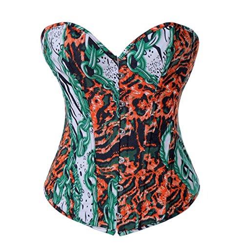 Valin FOB2886 Mujer VerdeNaranja Lencería y ropa interior Corsés y bustiers,XL