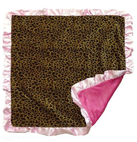 Pink Leopard Baby Bib Booties & Blanket Gift ()