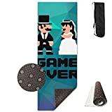 QNKUqz Wedding Game Over Deluxe Yoga Mat Aerobic Exercise Pilates