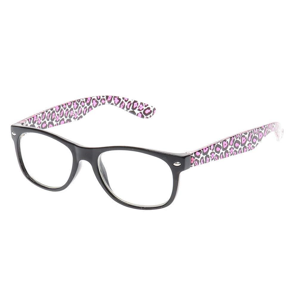Claire's Club Kids Black & Pink Leopard Print GlassesClaire's Club Black & Pink Claire's Club
