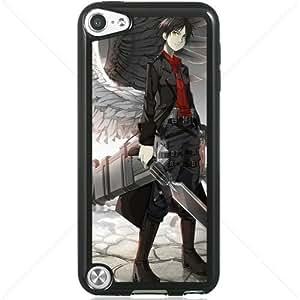 Shingeki no Kyojin Attack on Titan Manga Anime Comic Eren Jaeger Apple iPod Touch iTouch 5th Generation Hard Plastic Black or White cases (Black)