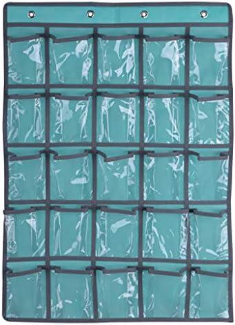 ruiruiNIE 25 Klare Taschen Klassenzimmer Tasche Diagramm Für Lehrer Handys Halter Tür Hängen Taschenrechner Organizer