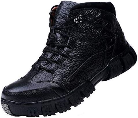 ハイキングアウトドア登山トレイルを実行するためのブーツアンチトレーナートレッキングブーツハイカットスエードレザースリップ防水透湿性軽量靴をウォーキング (Color : Black, Size : 6.5UK)