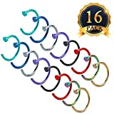 Image of SUBANG 16 Pieces 316L Stainless Steel Nose Hoop Rings Different colors, Diameter of 1cm