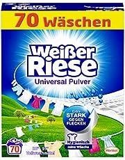 Weißer Riese Uniwersalny proszek (70 prań), środek piorący do pełnego środka piorącego, bardzo skuteczny przeciwko plamom, wydajny proszek do prania, idealny dla rodzin z dziećmi