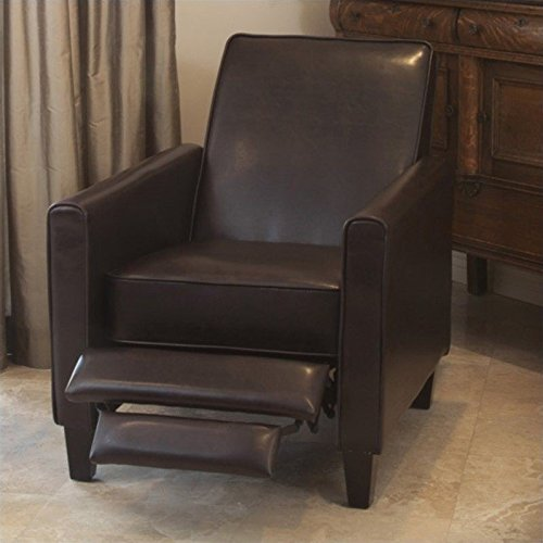 Noble House Delouth Leather Recliner Club Chair & Small Recliner Chairs: Amazon.com islam-shia.org