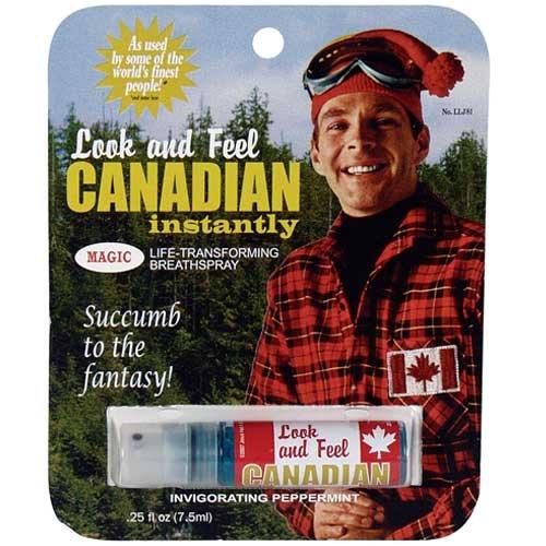 Look and Feel Canadian Breath Spray- Funny Breath Spray Blue Q