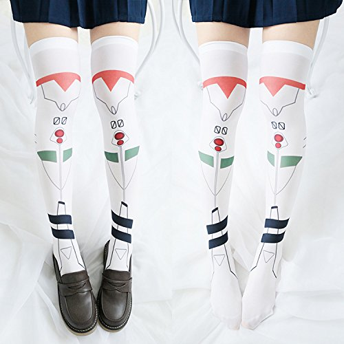 The new element Aya Polly animation Zhou Bian Personalized printing socks knee socks stockings Gaotong Personalized Velvet Stocking
