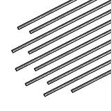 uxcell 1mm Carbon Fiber Bar for RC Airplane Matte Pole US, 200mm 7.8 inch, 10pcs